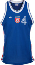 Basketball Collectibles:Uniforms, 1990 Drazen Petrovic Game Worn Yugoslavia FIBA Gold Medal ClinchingJersey - The Country's Final World Championship Title. ...
