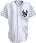 Baseball Collectibles:Uniforms, 2005 Mariano Rivera Game Issued Signed New York Yankees Jersey from The Bobby Murcer Collection. ...
