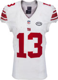 Football Collectibles:Uniforms, 2015 Odell Beckham, Jr. Game Worn, Unwashed New York Giants Jersey, MEARS A10....