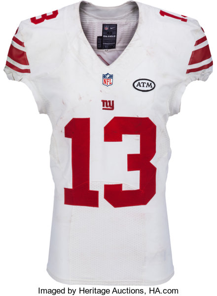 cheap for discount b28b7 4bdb8 2015 Odell Beckham, Jr. Game Worn, Unwashed New York Giants ...