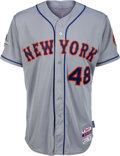 Baseball Collectibles:Uniforms, 2015 Jacob deGrom Game Worn National League Division Series New York Mets Jersey from His First Playoff Win with Team Letter &...