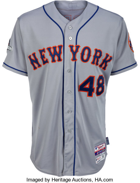 2015 Jacob deGrom Game Worn National League Division Series New