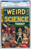 Golden Age (1938-1955):Science Fiction, Weird Science #15 (#4) (EC, 1950) CGC VF- 7.5 Off-white pages....