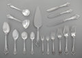 Silver Flatware, American:Wallace , A Fifty-Two Piece Wallace Grand Baroque Pattern SilverFlatware Service for Six and Serving Pieces, Wallingford,...(Total: 52 Items)