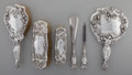 Silver Holloware, American:Vanity, An American Art Nouveau Silver Vanity Set, early 20th century.Marks: STERLING, 2000, PAT'D. 10-1/8 inches (25.7 cm) (lo...