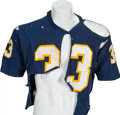 Football Collectibles:Uniforms, 1976 Tony Dorsett Game Worn, Unwashed Pitt Panthers Tearaway Jersey - With Provenance from Dorsett and Former Pittsburgh Sheri...