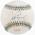 Baseball Collectibles:Balls, 2001 Alex Rodriguez Single Signed, Game Used All Star Game Baseball....