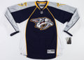Hockey Collectibles:Publications, Ryan Suter Signed Nashville Predators Jersey....