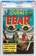 Golden Age (1938-1955):Horror, Journey Into Fear #21 (Superior Comics, 1954) CGC VG/FN 5.0Off-white pages....