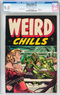 Golden Age (1938-1955):Horror, Weird Chills #3 (Key Publications, 1954) CGC VF/NM 9.0 Off-white towhite pages....