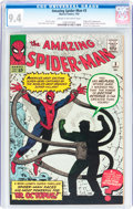 Silver Age (1956-1969):Superhero, The Amazing Spider-Man #3 (Marvel, 1963) CGC NM 9.4 Cream tooff-white pages....