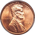 Lincoln Cents, 1969-S 1C MS67 Red PCGS....