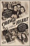 "Movie Posters:Musical, Hit Parade of 1943 (Republic, R-1949). One Sheet (27"" X 41"")Reissue Title: Change of Heart. Musical.. ..."
