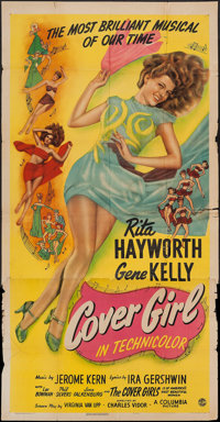 "Cover Girl (Columbia, 1944). Three Sheet (41"" X 78.5""). Musical"