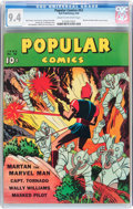 Golden Age (1938-1955):Miscellaneous, Popular Comics #52 (Dell, 1940) CGC NM 9.4 Cream to off-white pages....
