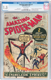 The Amazing Spider-Man #1 (Marvel, 1963) CGC FR/GD 1.5 Off-white pages