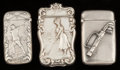 Silver Smalls:Match Safes, Three American Silver Golf Motif Match Safes, Providence, RhodeIsland & Newark, New Jersey, circa 1900. Marks:STERLING... (Total: 3 Items)