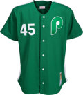 Baseball Collectibles:Uniforms, 2000's Tim McGraw Signed Philadelphia Phillies Jersey from The Bobby Murcer Collection. ...