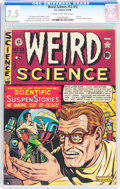 Golden Age (1938-1955):Science Fiction, Weird Science #12 (#1) (EC, 1950) CGC VF- 7.5 Cream to off-whitepages....