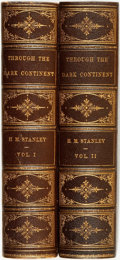 Books:Travels & Voyages, Henry M. Stanley. Through the Dark Continent, or The Sources ofthe Nile around the Great Lakes of Equatorial Africa and... (Total:2 Items)