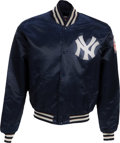 Baseball Collectibles:Others, 1980's Bobby Murcer Game Worn New York Yankees Jacket from TheBobby Murcer Collection. ...