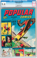 Golden Age (1938-1955):Adventure, Popular Comics #93 (Dell, 1943) CGC NM 9.4 Cream to off-white pages....