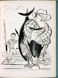 Books:Art & Architecture, [Cartoons, Fishing]. Eugenie Marron. SIGNED/INSCRIBED/LIMITED. Caught in the Act. [New York: Eugenie Marron, 1948]...