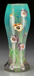 Art Glass:Other , A Mount Joye Enameled Glass Floral Vase, early 20th century. 12inches high (30.5 cm). PROPERTY FROM THE COLLECTION OF DR....