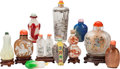 Asian:Chinese, Eleven Chinese Figural Snuff Bottles. 4-1/4 inches high (10.8 cm)(tallest). PROPERTY FROM THE COLLECTION OF DR. SIDNEY AN... (Total:10 Items)