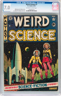 Golden Age (1938-1955):Science Fiction, Weird Science #7 (EC, 1951) CGC FN/VF 7.0 Off-white to whitepages....