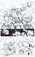 Original Comic Art:Panel Pages, Rob Liefeld and Adelso Corona Deadpool Corps #7 Story PageOriginal Art (Marvel, 2010)....