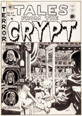 Original Comic Art:Covers, Wally Wood Tales From The Crypt #27 Cover Original Art (EC,1951-52)....