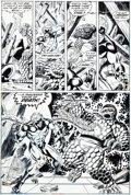 Original Comic Art:Panel Pages, Jim Starlin and Dave Cockrum Captain Marvel #26 Page 18Original Art (Marvel, 1973)....