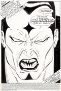 Original Comic Art:Splash Pages, Marc Silvestri and Dan Green Uncanny X-Men #221 Splash Page1 Mr. Sinister Original Art (Marvel, 1987)....