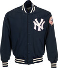 Baseball Collectibles:Others, 1977 Thurman Munson Game Worn New York Yankees Jacket Worn in Game 6 of 1977 World Series, with Letter from Teammate Ken Clay....