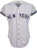 Baseball Collectibles:Uniforms, 1974 Bobby Murcer Game Worn New York Yankees Jersey from The Bobby Murcer Collection. ...