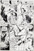 Original Comic Art:Panel Pages, John Romita Sr. and Jim Mooney Spectacular Spider-Man(Magazine) #1 and Amazing Spider-Man #116 Page 6...