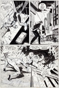 Original Comic Art:Panel Pages, John Romita Sr. and Jim Mooney Spectacular Spider-Man(Magazine) #1 and Amazing Spider-Man #116 Page 5...