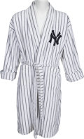 Baseball Collectibles:Others, 2007 Bobby Murcer New York Yankees Bathrobe Gifted by Yogi Berra from The Bobby Murcer Collection. ...