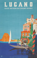 Prints, 20th Century School . Lugano Travel Poster. Color poster. 40 x 25 inches (101.6 x 63.5 cm) (sheet). ...