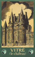 Prints, 20th Century School . Vitre, Le Chateau Travel Poster. Color poster. 40 x 25 inches (101.6 x 63.5 cm) (sheet). ...