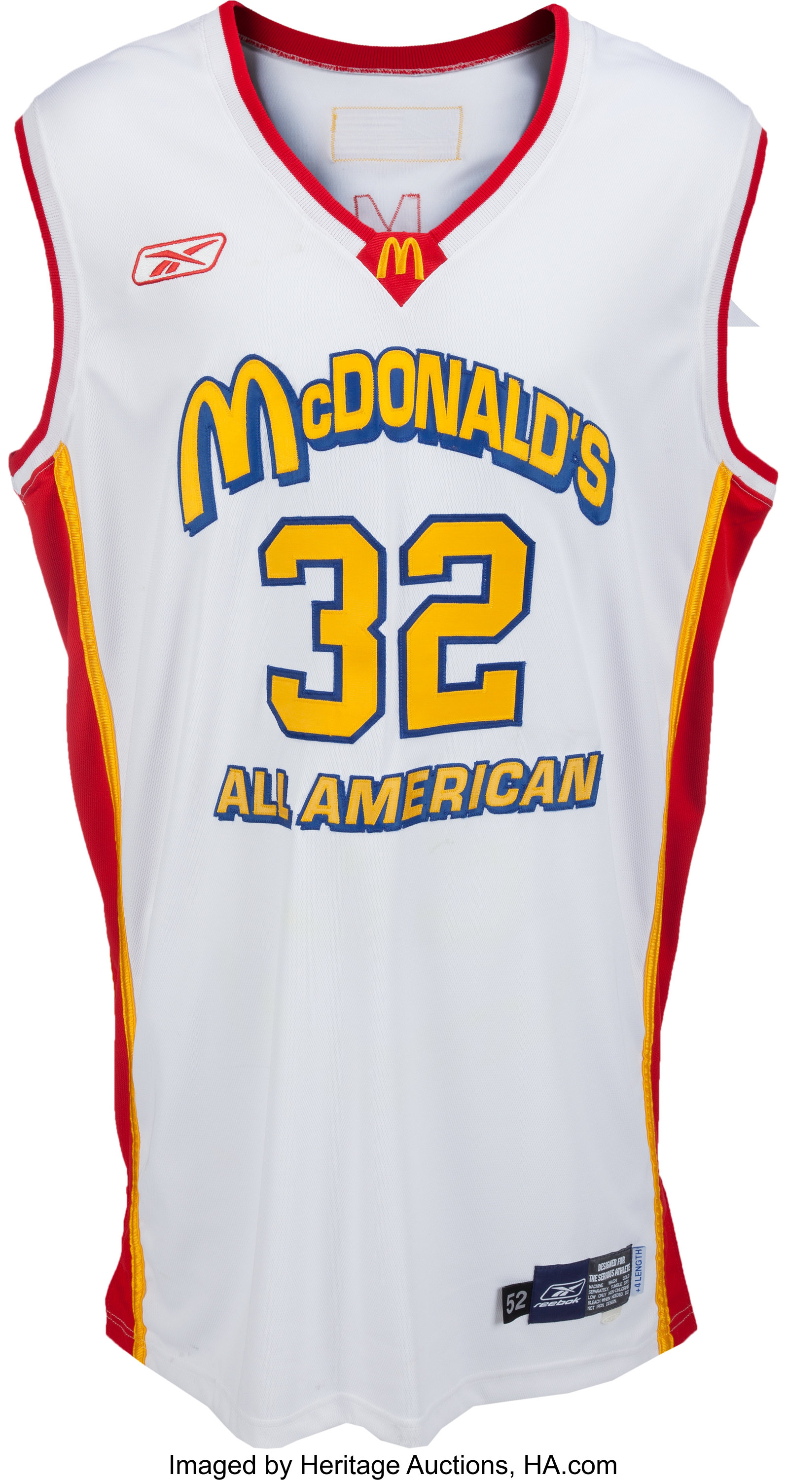 newest 3f4a5 8eab6 2003 LeBron James Game Worn McDonald's All-American Uniform ...