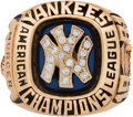 Baseball Collectibles:Others, 1981 New York Yankees American League Championship Ring Presentedto Bobby Murcer....