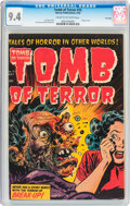 Golden Age (1938-1955):Horror, Tomb of Terror #15 File Copy (Harvey, 1954) CGC NM 9.4 Cream tooff-white pages....