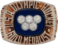 """1980 """"Miracle on Ice"""" U.S. Olympic Gold Medal Hockey Ring Presented to Dave Christian"""