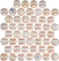 Basketball Collectibles:Others, NBA's Fifty Greatest Players Single Signed Baseballs Complete Set of 50....