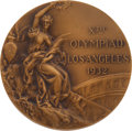 Olympic Collectibles:Autographs, 1932 Los Angeles Summer Olympics Bronze Medal....