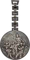 Olympic Collectibles:Autographs, 1936 Berlin Summer Olympics Silver Medal....