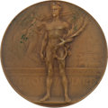 Olympic Collectibles:Autographs, 1920 Antwerp Summer Olympics Bronze Medal. ...
