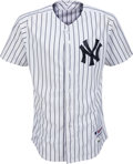 Baseball Collectibles:Uniforms, 2014 Derek Jeter Breaks Gehrig's Franchise Doubles Record Game WornNew York Yankees Uniform & Game Used Second Base....